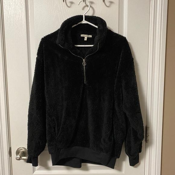 Teddy-ish half zip hoodie
